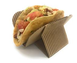 Disposable Taco Holder Stand - Rack Tray Plates for Serving