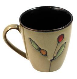 Sango Dolce Modern Cherry Taupe & Black 4-inch Mug