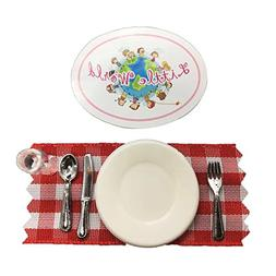 Dollhouse Dining Room Accessories: Dinnerware Set , The same
