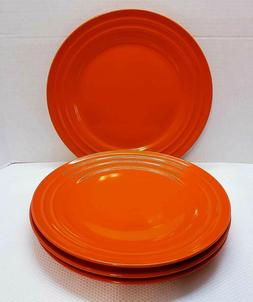 Rachael Ray Double Ridge Orange 11'' Dinner Plates  Set of 4