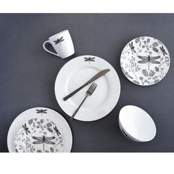 Dragonfly 16PC Dining Dinnerware set for 4