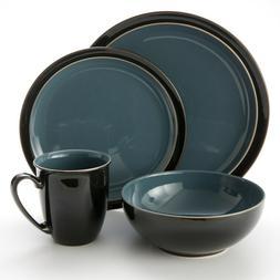 Denby Duets Black & Blue 4-piece Place Setting