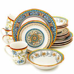 Euro Ceramica Duomo Collection Italian-Inspired 16 Piece Cer