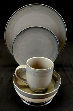 ROYAL DOULTON ED by Ellen Degeneres Brushed Glaze Gray, 4 Pi