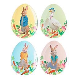 Peter Rabbit Egg Shaped Melamine Plate Set of 4