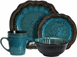 Elama EL-MYSTICWAVES Mystic Waves 16 Piece Dinnerware Set, 1
