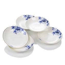 Porlien Elegance Collection Chinese Blue Flower Porcelain Di