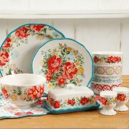 The Pioneer Woman Vintage Ruffle Floral Dinnerware Set, 20 P