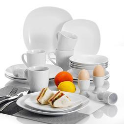 MALACASA Elisa 20-Piece Porcelain <font><b>Dinnerware</b></f