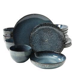 Gibson Elite Matisse 16-Piece Round Stoneware Double Bowl Co