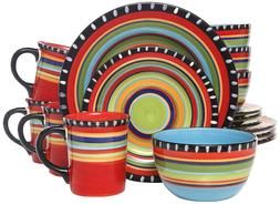 elite pueblo springs 16 piece dinnerware set
