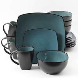 Elite Soho Lounge 16 Piece Reactive Glaze Dinnerware Forest