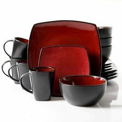 Gibson Elite Soho Lounge Reactive Glaze 16 Piece Dinnerware