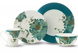 222 Fifth Eliza Teal 16-piece Dinnerware Set  Beautiful Set