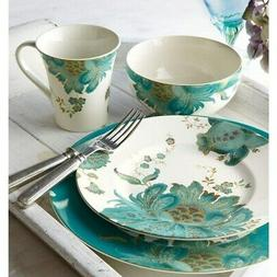 222 Fifth Eliza 16 Piece Porcelain Dinnerware Set with Round