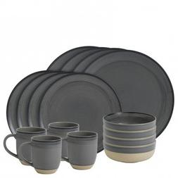 Ellen DeGeneres Brushed Glaze Charcoal Grey 16pc Set