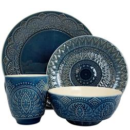 elm petra 16 piece stoneware dinnerware set