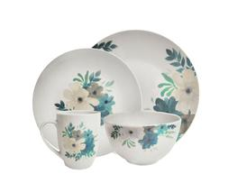 Emily Round 16 Piece Dinnerware Set - Service for 4, Porcela