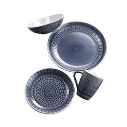 Euro Ceramica FEZ 16 Piece Dinnerware Set, Gray