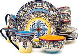 Euro Ceramica Zanzibar 16 Piece Earthenware Dinnerware Set O