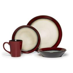 Everyday Dinnerware Dishes Sets 16 Piece Glaze Stoneware Din