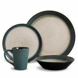 Pfaltzgraff Everyday Dinnerware, Aria Teal 16-Pc. Set, Servi