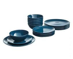 FÄRGRIK 18-Piece Dinnerware Set, Dark Turquoise NEW