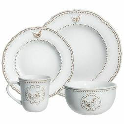 Pfaltzgraff Farmhouse Hen 32 Piece Dinnerware Set Brand New