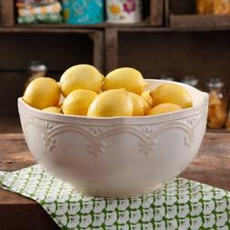 The Pioneer Woman Farmhouse Lace 10 Linen Serving Bowl