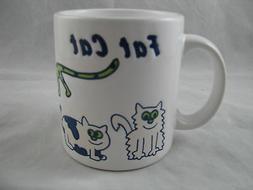 Fat Cat Coffee Mug 12oz Waechtersbach German Stoneware New