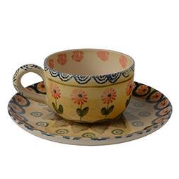 Festa Flower Espresso Cup and Saucer - Italian Dinnerware -