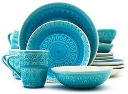 Euro Ceramica® Fez 16pc Dinnerware Set Turquoise
