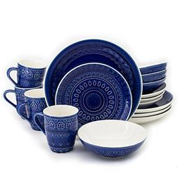 Euro Ceramica® Fez 16pc Dinnerware Set Blue