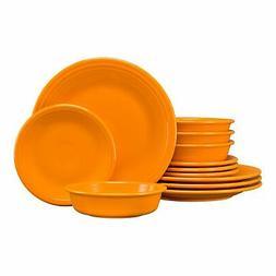 Fiesta® 12-Piece Classic Dinnerware Set | Butterscotch