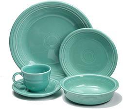 Fiesta Dinnerware 20 Piece Dining Set - Turquoise Blue - 855