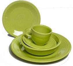 Fiesta Dinnerware 20 Piece Dining Set - Lemongrass Green - 8