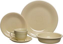 Fiesta Dinnerware 20 Piece Dining Set - Ivory White - 855330