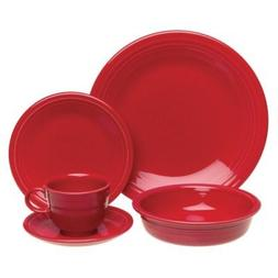 Fiesta 20-pc. Dinnerware Set, Scarlet.
