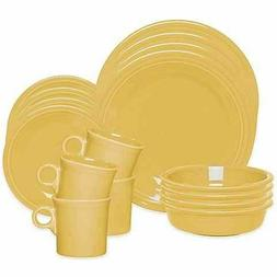 Fiesta Sunflower 16-Piece Dinnerware Set, Service for 4