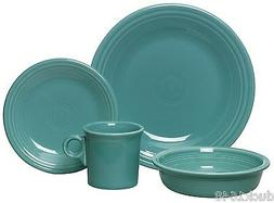 Fiesta Ware 4-Piece Dinnerware Place Setting, Turquoise Home