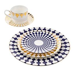 B. By Brandie 5 Piece Fine Bone China Dinnerware Set Dishes