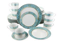 Fine Porcelain Dinnerware Sets, Blue & Gold