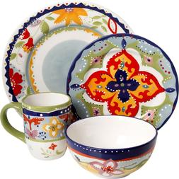 Fiore Olivetti Ceramic Dinnerware Dinner Set Abstract Floral