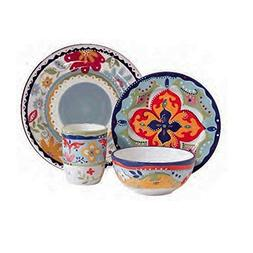 Gibson Elite Fiore Olivetti 4 Piece Dinnerware Set