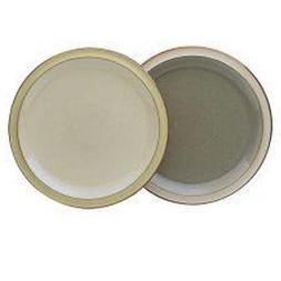 Denby Fire Sage/Cream Dinner Plates , Set of 4
