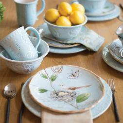 Fitz and Floyd Toulouse Blue 16-piece Dinnerware Set