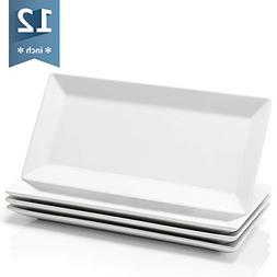 Sweese 3304 12-inch Porcelain Rectangular Plates/Serving Tra