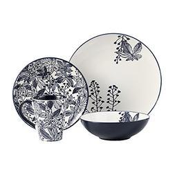American Atelier Floral Indigo 16 Piece Round Dinnerware Set