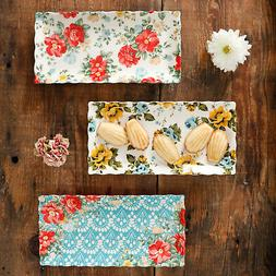The Pioneer Woman Floral Medley 3-Piece Serving Platters Hom