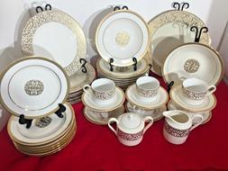 American Atelier Florentine Scroll Gold Full 6 People Dinner